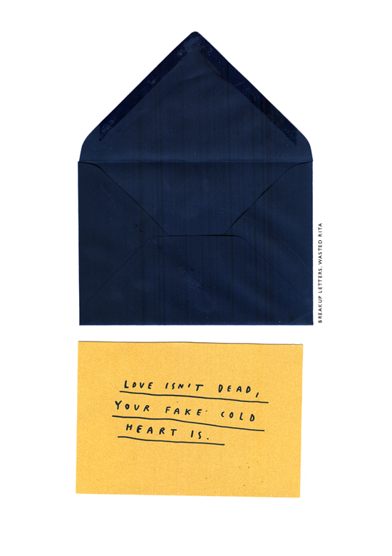 breakup letters : WASTED RITA